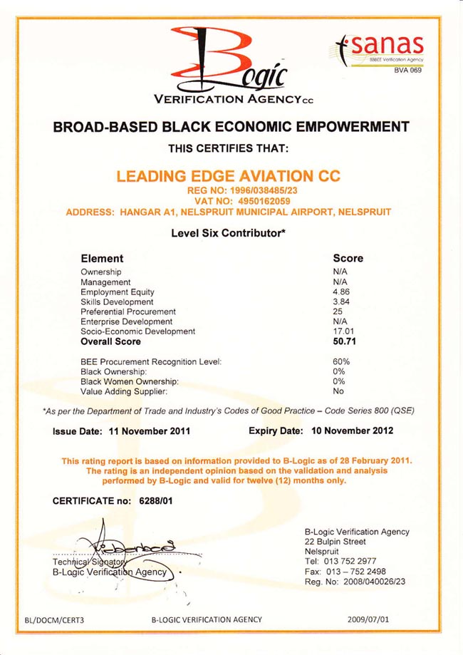 LeadingEdgeAviation-B-BBEECertificate-650